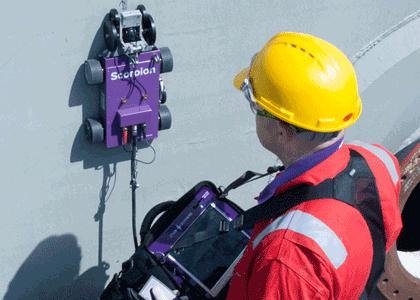 Mapowanie korozji oraz pomiar grubości techniką ultradźwiękową z zastosowaniem rejestracji ciągłej