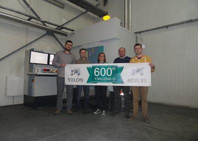 600-setny na świecie system YXLON MU2000-D- w firmie Norlys Sp. z o.o.